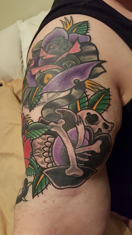 Traditional sparrows tattoo
