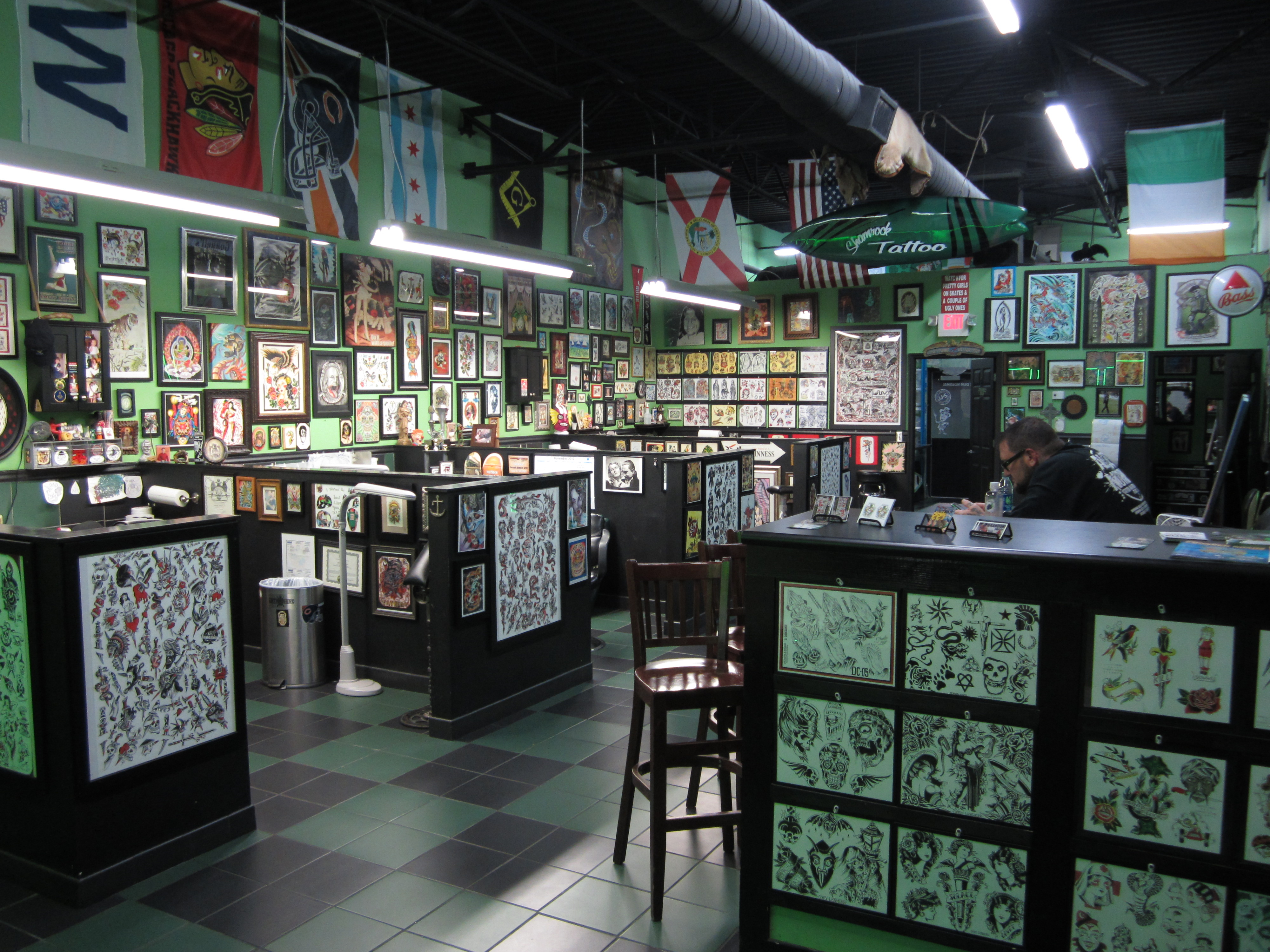 100 ormond beach fl tattoo shop shamrock tattoo for Tattoo shops in long beach
