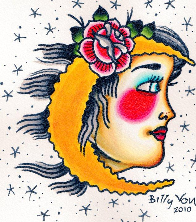 girl moon