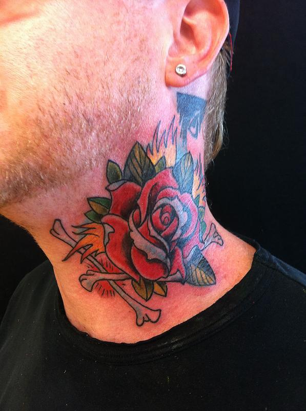 Rose on the neck