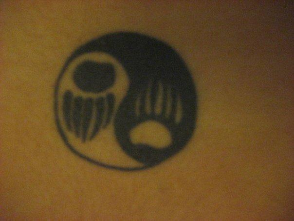 back tattoo ying yang