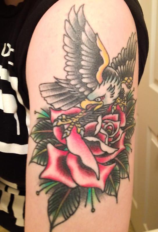 Eagle and rose