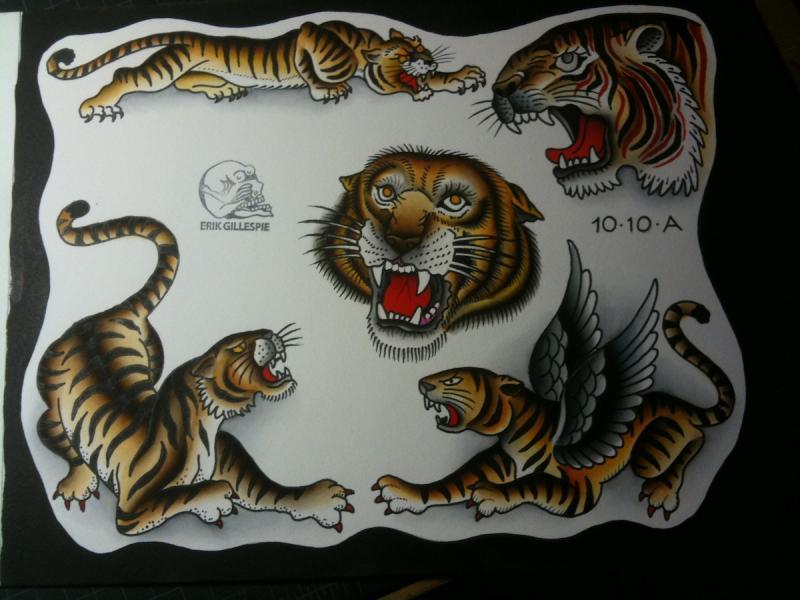 tiger tattoo flash