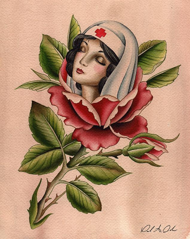girl rose art