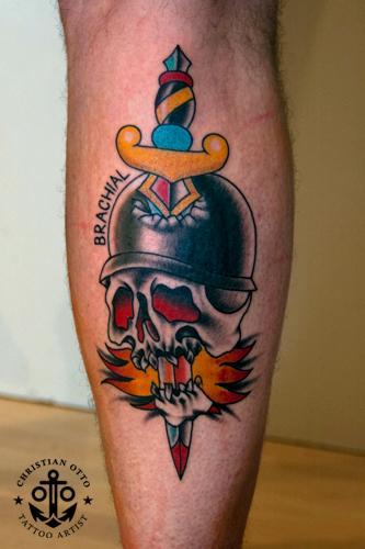 Biker Skull and Dagger
