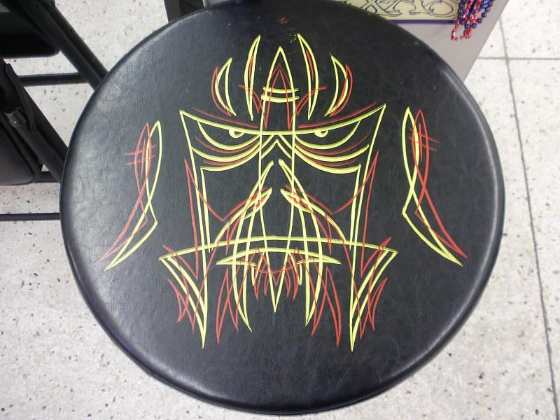bar stool stripin