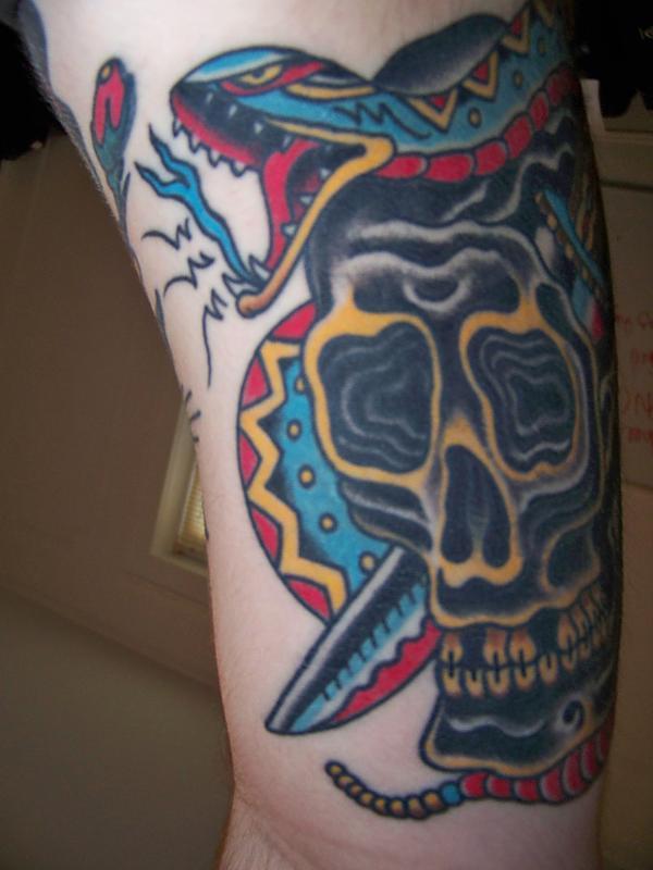 Snake skull dagger