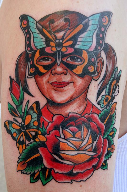 butterfly mask portrait