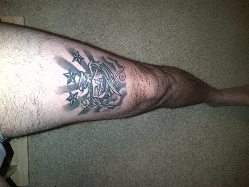 existing tattoo