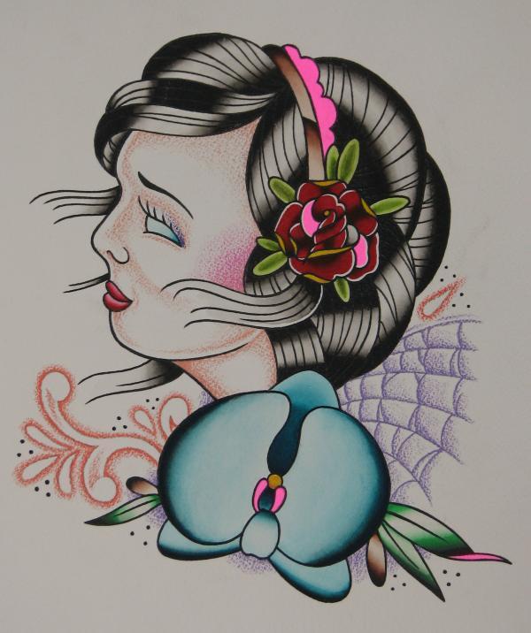 girl paint