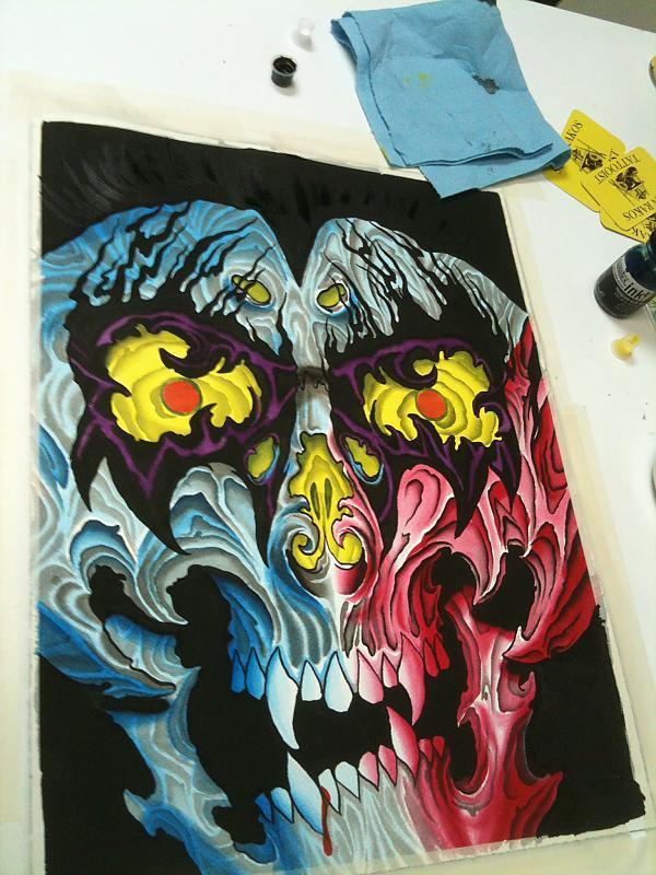 kiss skull