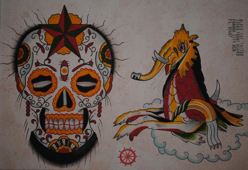 sugar skull and montser