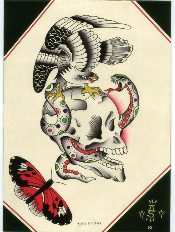 eagle skull snake