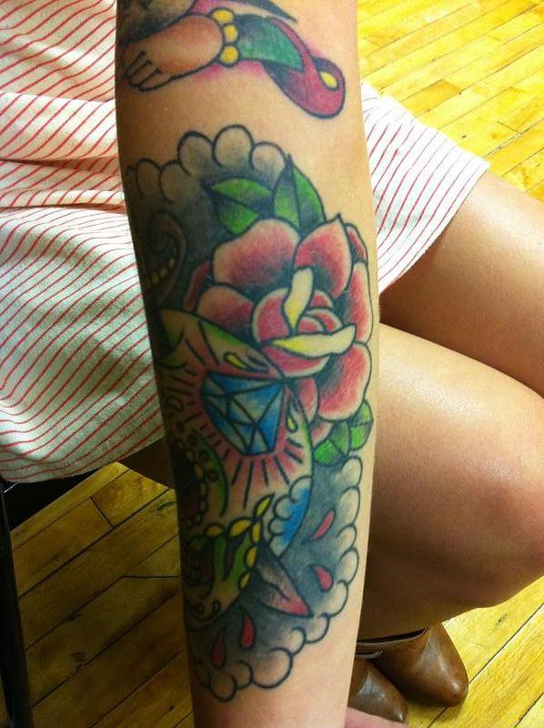 tattoos skull and roses