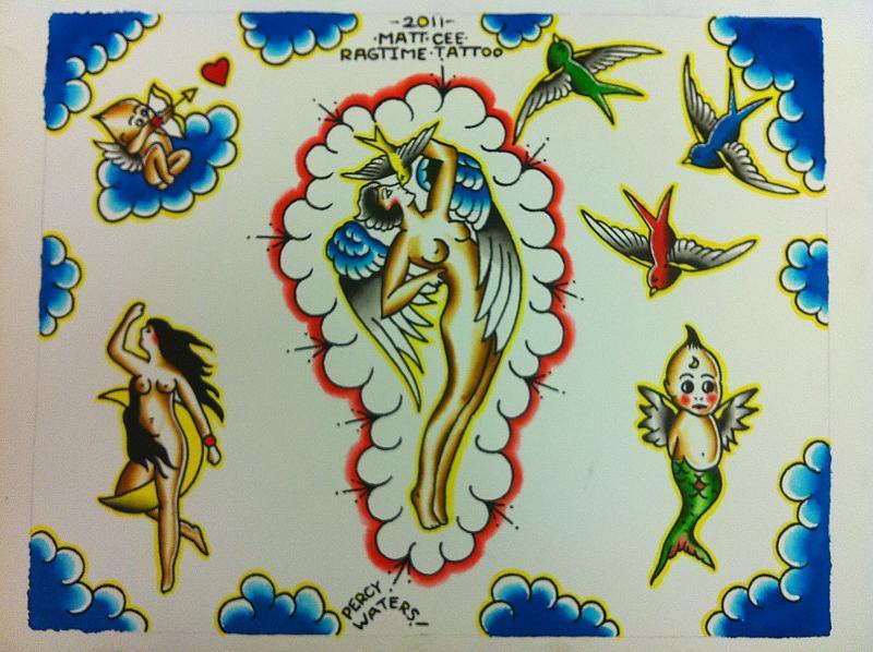 tattoos woman flash