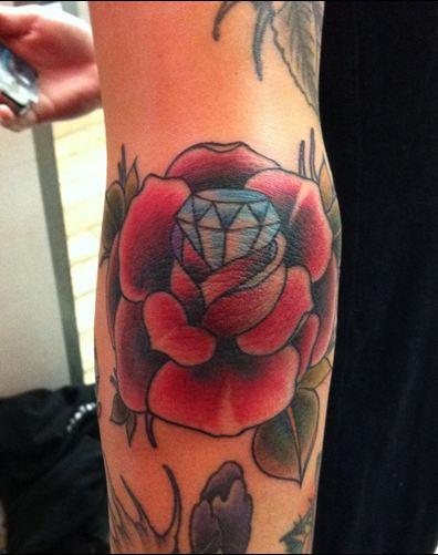 Rose with Diamond