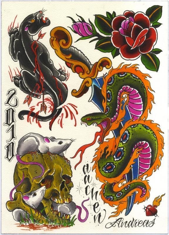 flash panther snake rose
