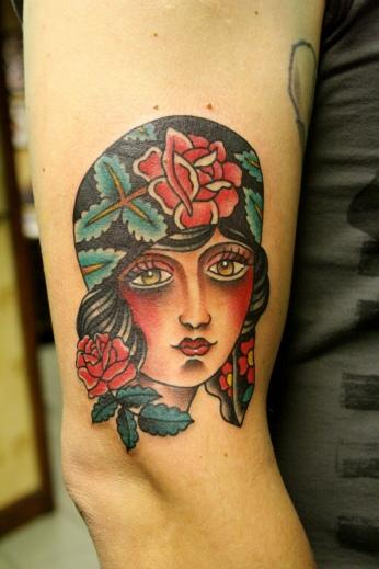 gypsy girl head