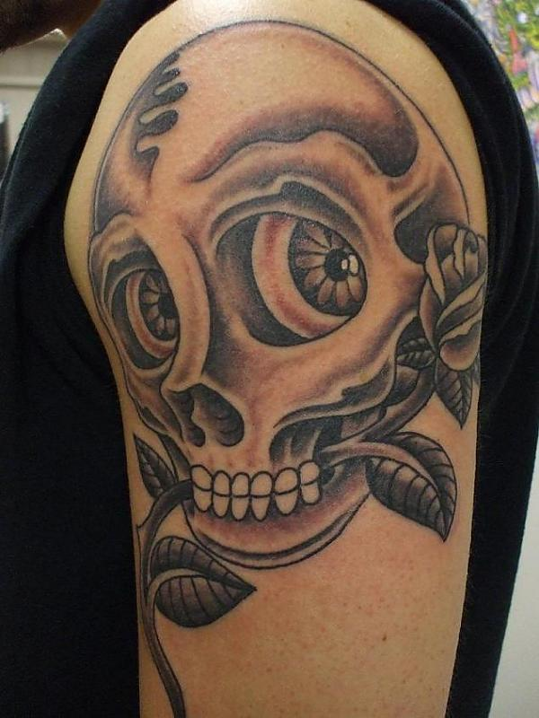 skull billy flip mccoy spike-o-matic tattoo 651 s.park st. madison wi. 53715 608-316-1000 50