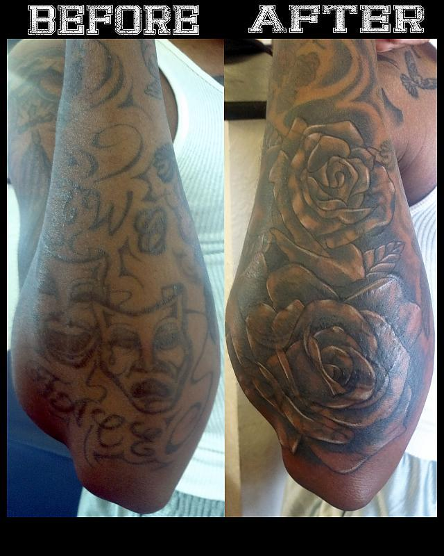 Cover up using roses.