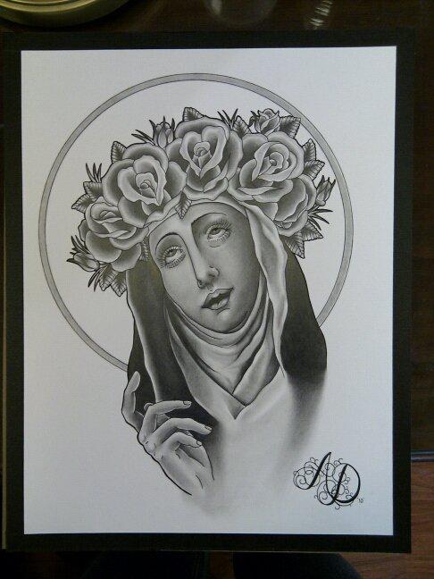 Nun Drawing