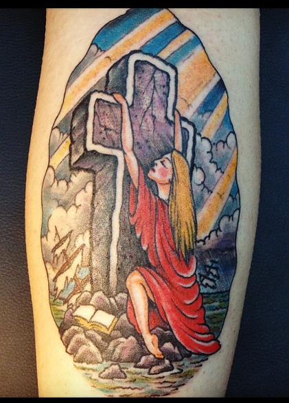 My wifes tattoo by Mike Wilson 2012 Rock of Ages
