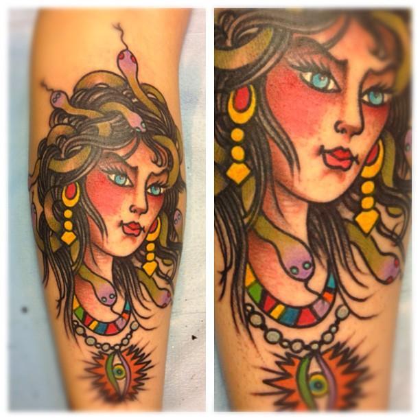 My wife's Medusa tattoo by Greg Christian 2012