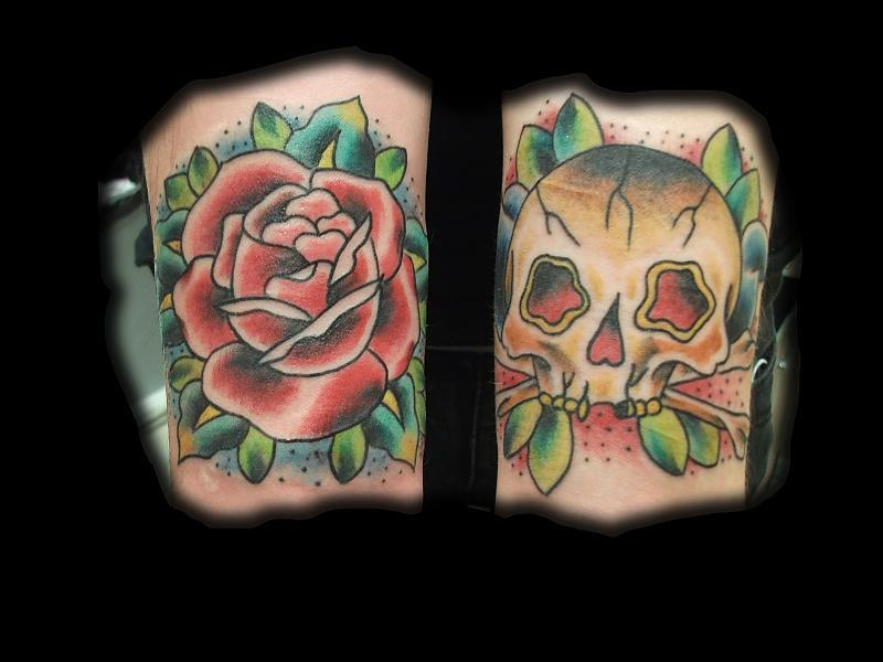 Tattoos Rose and Skull