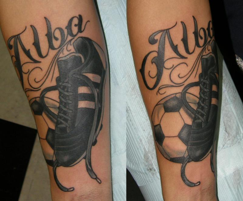 lettering and soccer