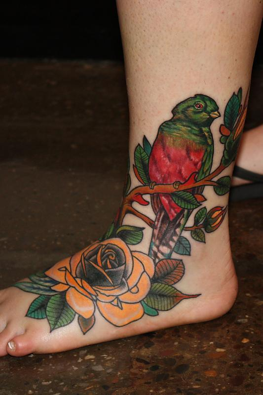 Pretty Bird and Rose