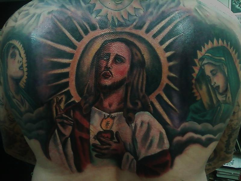 jesus back piece