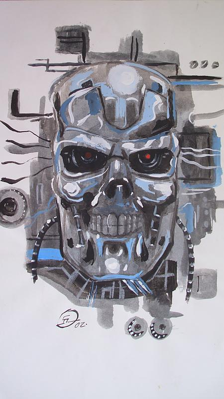 terminator drawn from comic strip