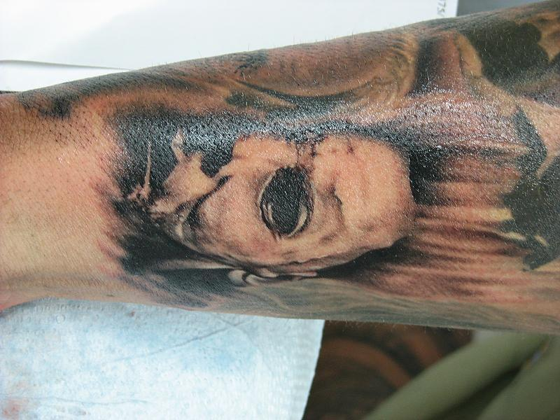 Horror Sleeve in progress
