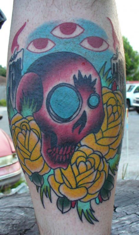 skull an candles 1