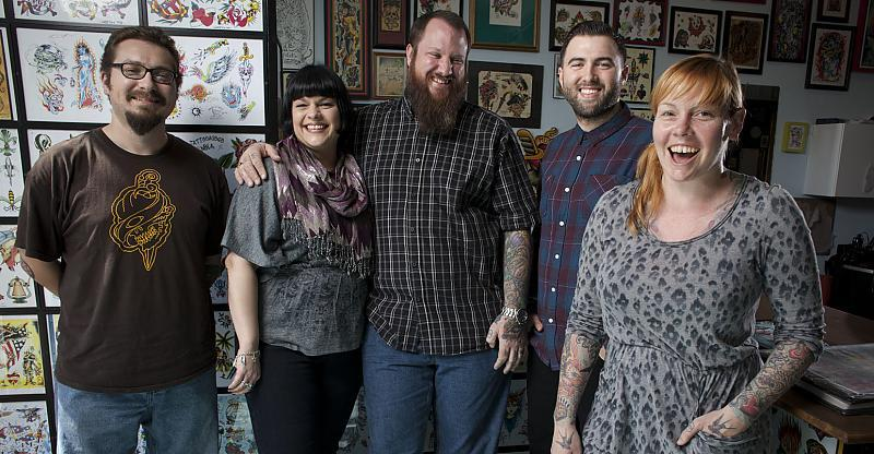 The Crew at Tattooagogo in New Orleans