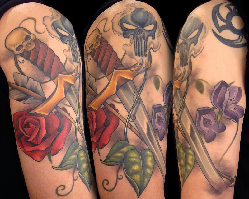 Sword Arrow and Flowers