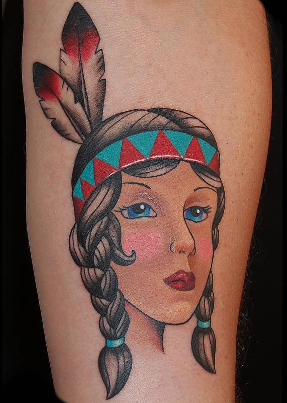 Traditional Native Girl