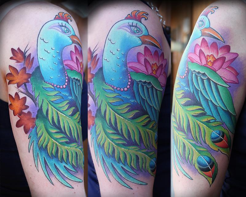 Peacock Half Sleeve