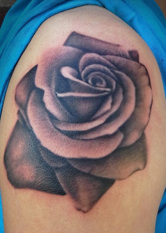Black and Grey Rose