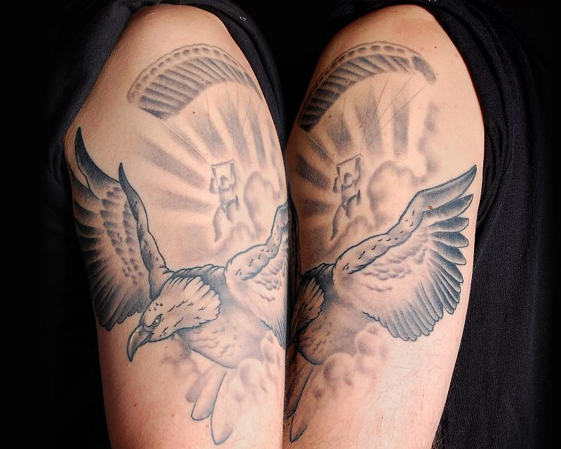 Eagle and Skydiver