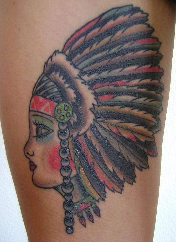native american lady head