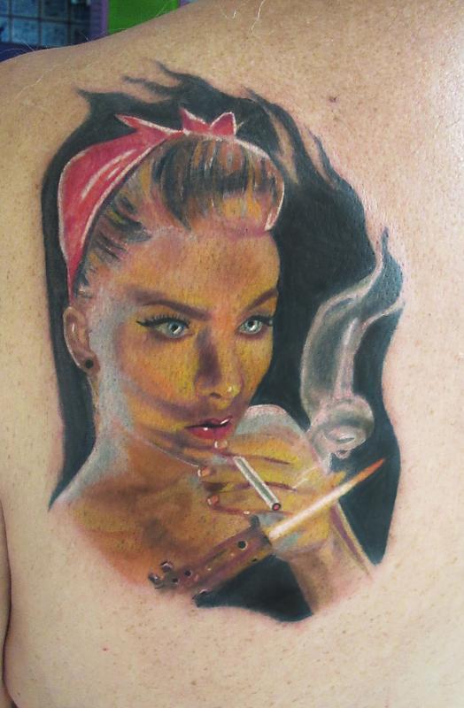 Smoking Pin-Up