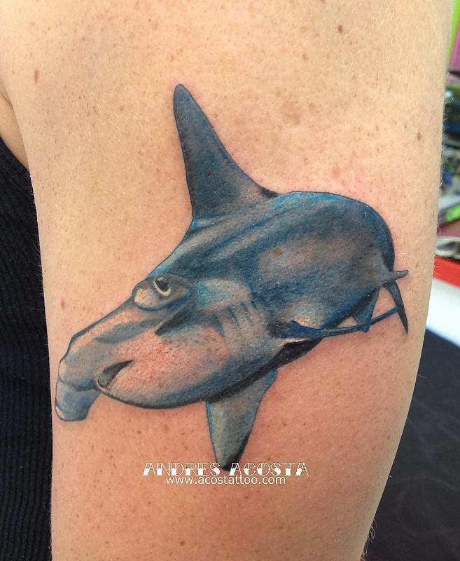 Hammer Shark Tattoo