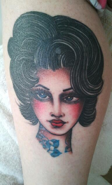 Lady Head on Leg