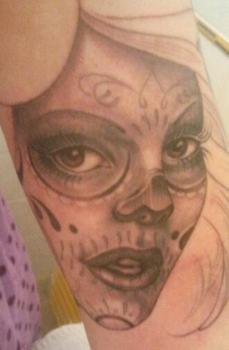 Day of the Dead Girl in progress
