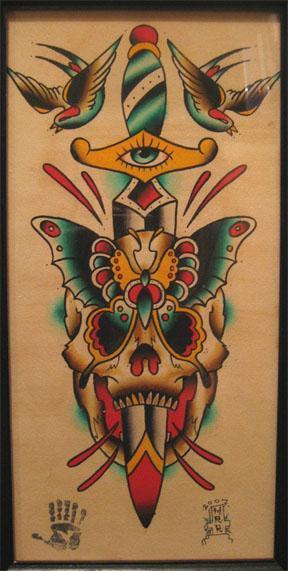 meg skull butterfly