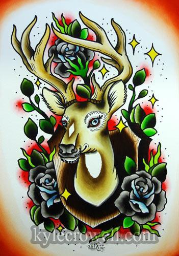 0210 deer head