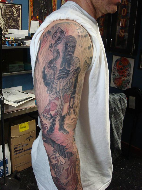 black and grey Fudo Myo sleeve 2011 hollywood