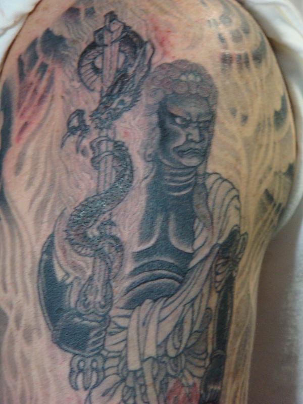 black and grey Fudo Myo sleeve 2011 hollywood