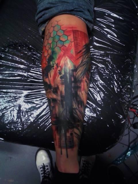 leg sleeve / freehand